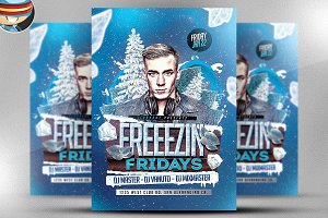 Freezin Fridays Flyer Template