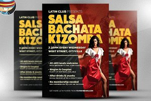Latin Dance Night Flyer Template