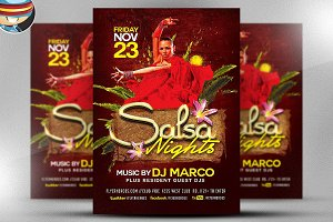 Salsa Nights Flyer Template