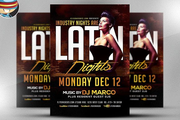 Latin Nights Flyer Template