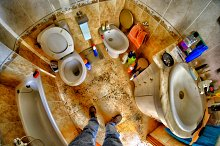 Dirty toilet which need be cleaned