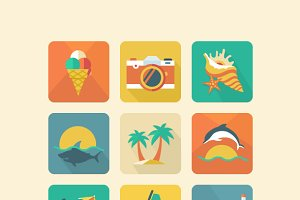 Summer icon set 2