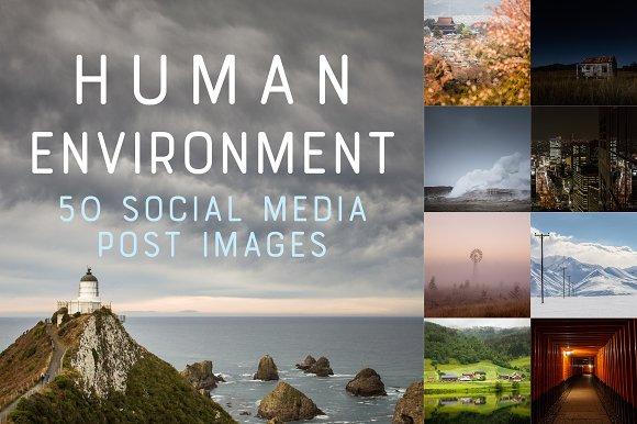 50 Social Media Backdrops - Man Made