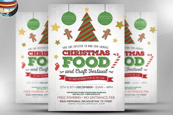 Christmas Food Crafts Flyer