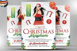 Christmas Mayhem Flyer Template