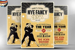 1940's Style NYE Flyer Template
