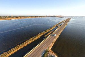 Aerial view of Albufera lake