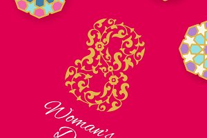 8 March Woman Day Card