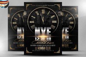NYE Countdown Flyer Template 2