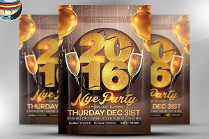 Glamorous NYE Party Flyer Template