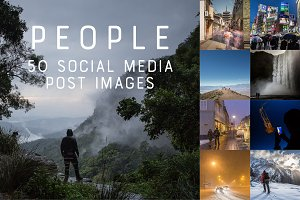 50 Social Media Backdrops - People