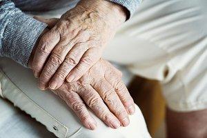 Closeup of elderly hands