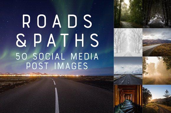 50 Social Media Backdrops - Roads