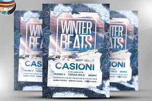 Winter Beats Flyer Template