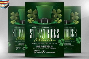 St. Patrick's Day Flyer Template 3**