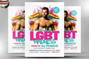 LGBT Madness Flyer Template