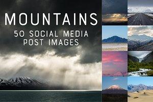 50 SocialMedia Backdrops - Mountains