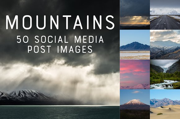 50 SocialMedia Backdrops Mountains