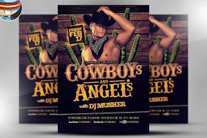 Cowboys and Angels Flyer Template