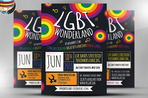 LGBT Wonderland Flyer Template