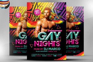 Gay Nights Flyer Template