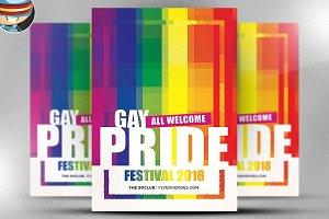 Gay Pride Festival Flyer Template