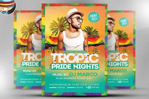 Tropical Pride Nights Flyer Template