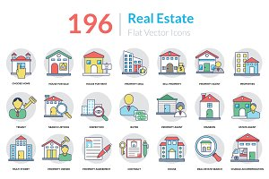 196 Real Estate Icons