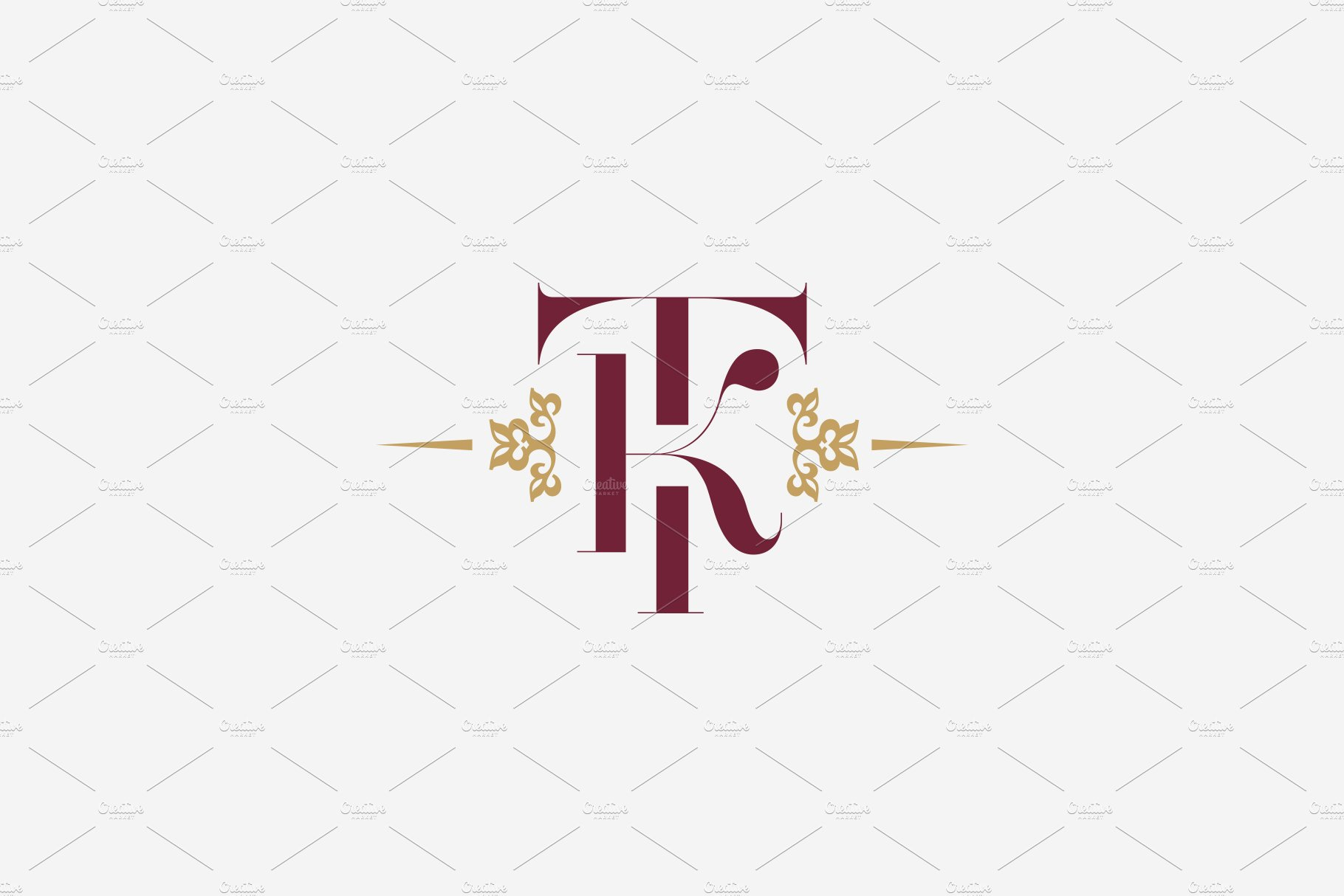 Monogram TK. Letters T and K ~ Logo Templates ~ Creative