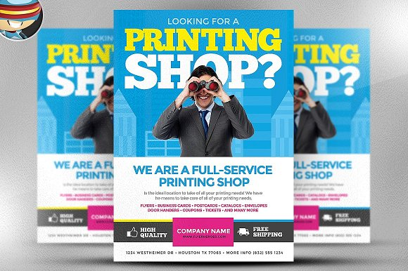 Printing Services Flyer Template