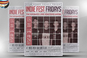 Indiefest Fridays Flyer Template
