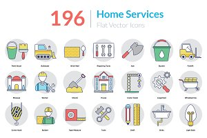 196 Home Services Icons