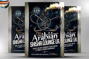 Arabian Shisha Flyer Template