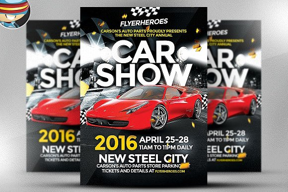 Car Show Flyer Template Flyer Templates Creative Market