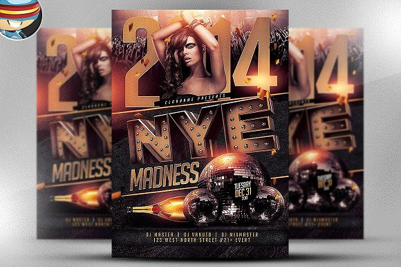 NYE Madness Flyer Template
