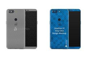 OnePlus 5T Mobile Skin Design Mockup
