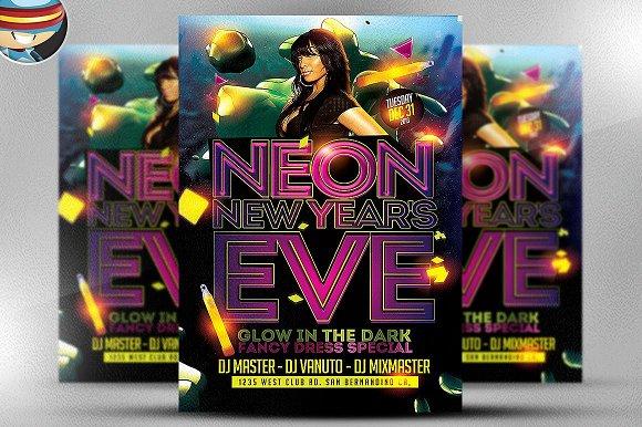 Neon NYE Flyer Template