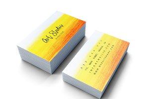 Beautiful bright colours card