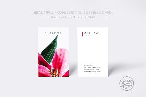 Beautiful Floral professional card