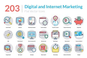 203 Digital Marketing Icons