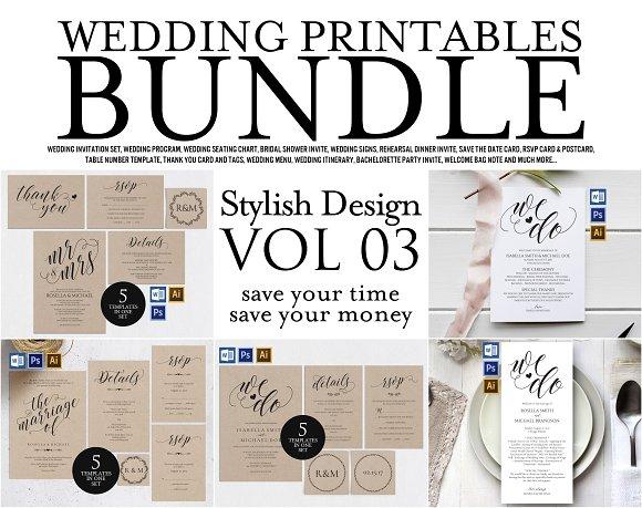 Wedding Printables Bundle Style 3