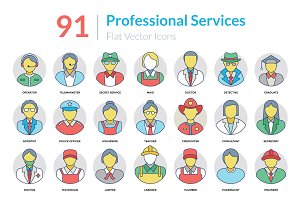 91 Professional Services Icons
