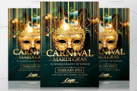 Mardi Gras | Carnival Flyer in Flyer Templates