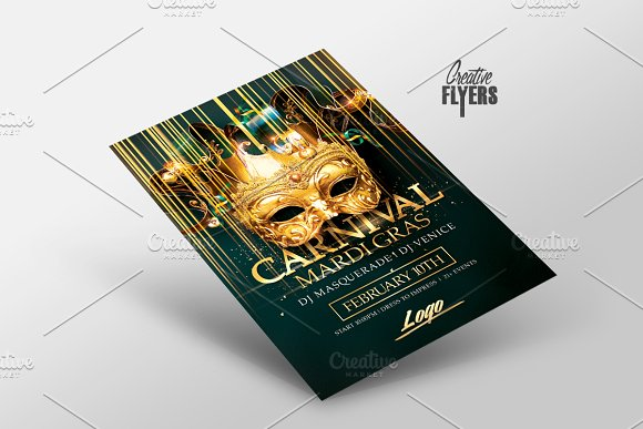 Mardi Gras | Carnival Flyer in Flyer Templates - product preview 1
