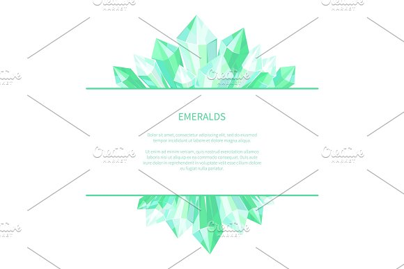 Emeralds Natural Resources Poster Precious Stones