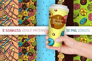 12 Patterns & 30 Donuts Set