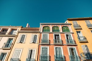 Colorful french facades