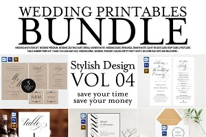 Wedding Printables Bundle Style. 4