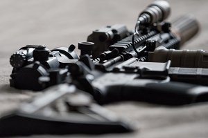 Tactical carbine, shallow DOF