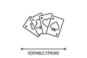 Four aces linear icon